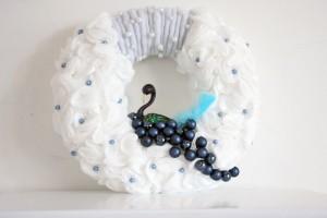 wattepadkranz-blauer-vogel