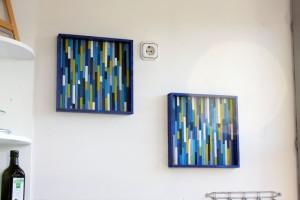 Wanddekoration-kueche-blau-gruen